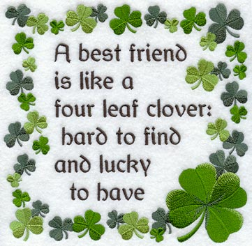 Four Leaf Clover Best Friend Quote