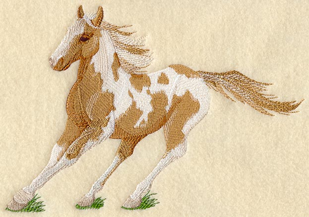 Paint horse embroidery design « origami