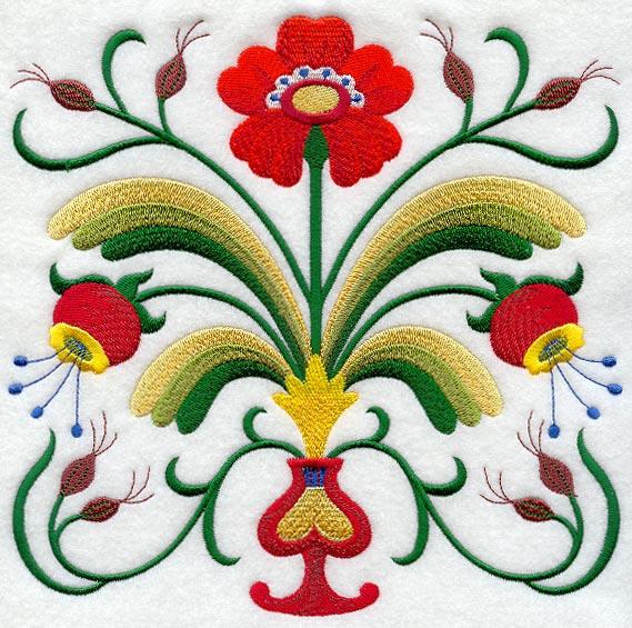 folk art embroidery designs