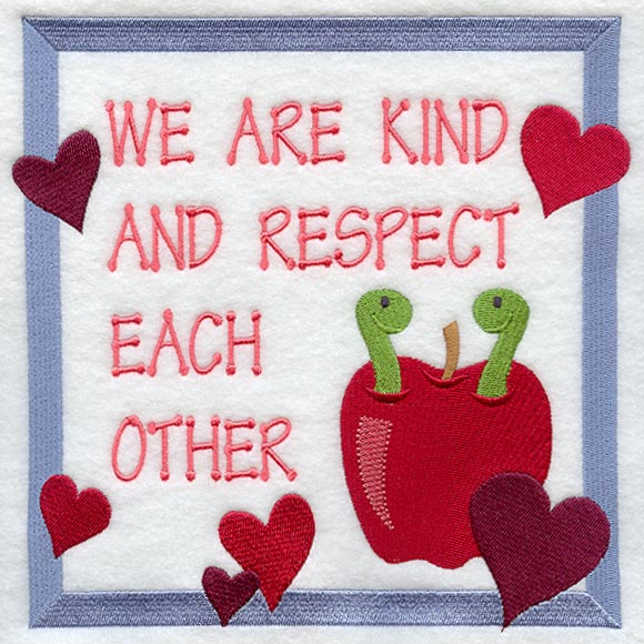 Respect Each Other: Machine Embroidery Designs At Embroidery Library