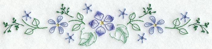 Embroidery flower border patterns pixshark