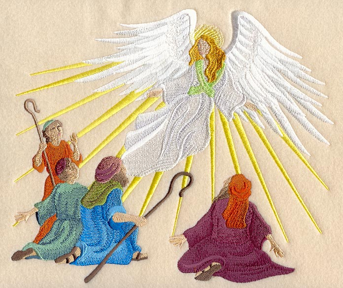 Machine Embroidery Designs at Embroidery Library Embroidery Library – Angels Announce the Birth of Jesus