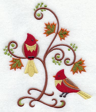 Graceful Redbird and Branches