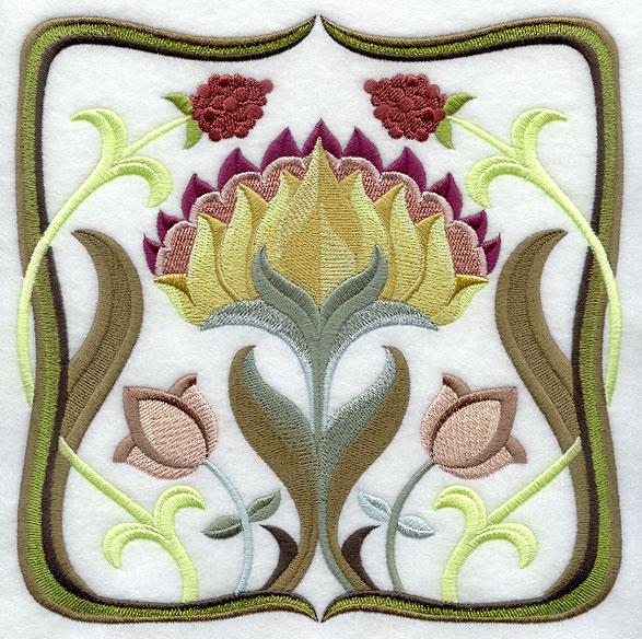 What defines art nouveau design?
