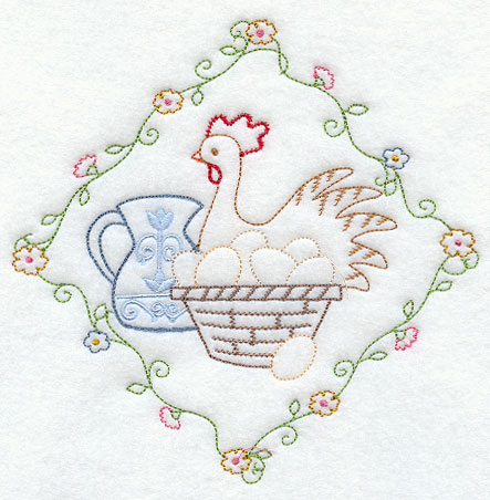Kitchen Curtains chicken kitchen curtains : Machine Embroidery Designs at Embroidery Library! -