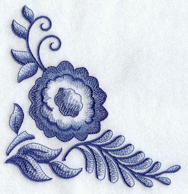 Delft Blue Floral Corner 1