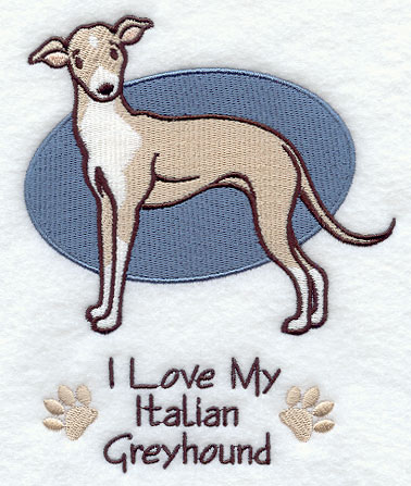 ITALIAN GREYHOUND EMBROIDERY DESIGN - EMBROIDERY DESIGNS