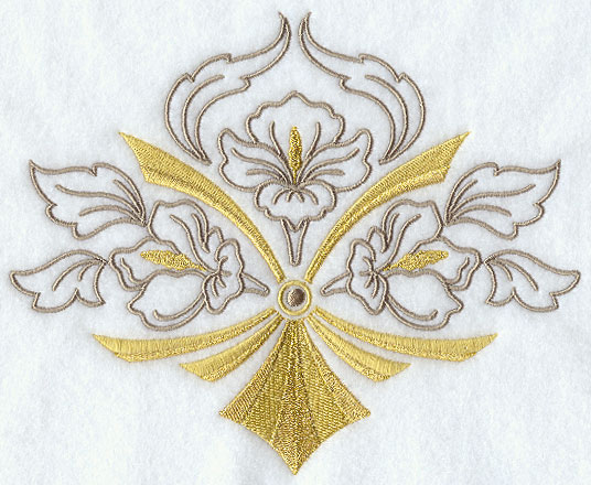 Embroidery Designs At Embroidery Library Art Deco Floral Crest