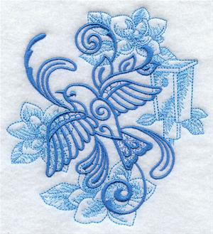 Machine Embroidery Design Small Bluebird