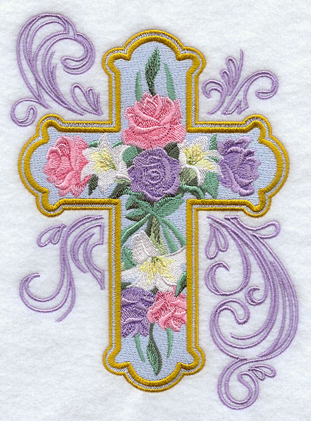 Machine embroidery designs at embroidery library for Lily rose designer