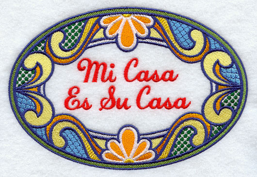 Machine embroidery designs at embroidery library - Mi casa es su casa ...