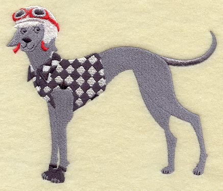 GREYHOUND MACHINE EMBROIDERY DESIGN - EMBROIDERY DESIGNS