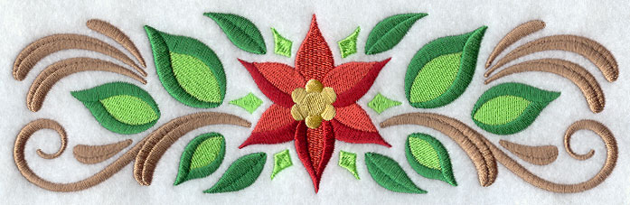 Ornate Christmas Poinsettia Border & Machine Embroidery Designs at Embroidery Library! - Embroidery Library pillowsntoast.com
