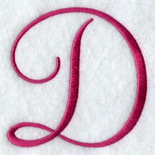 Fancy Flourish Capital Letter D - 4 Inch