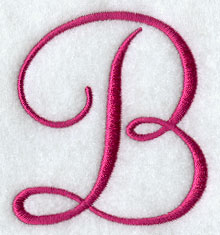fancy flourish capital letter b 3 inch