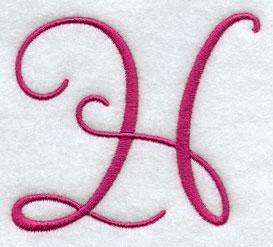 Fancy Flourish Capital Letter H - 3 Inch