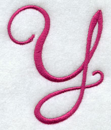 Machine Embroide...Y Letter Design