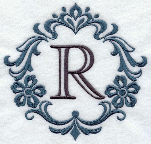 E R Embroidery Design