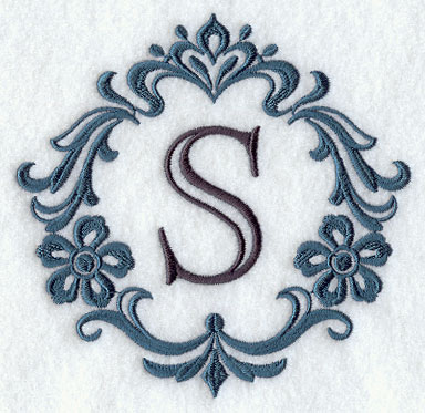 Machine embroidery designs at embroidery library embroidery library damask letter s 5 inch altavistaventures Images