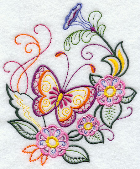 Pillowcase Flower Design: Machine Embroidery Designs at Embroidery Library!   Embroidery Library,