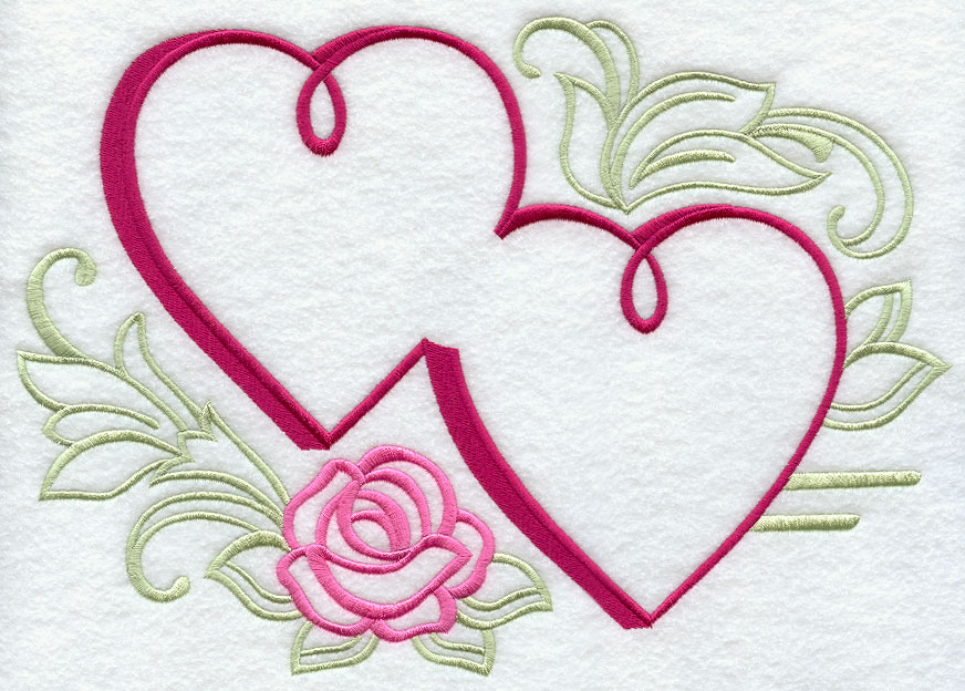 Heart embroidery design bing images