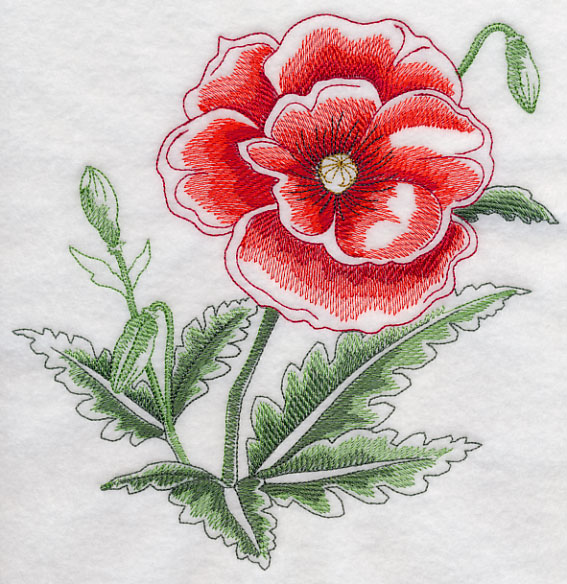 Machine Embroidery Designs At Embroidery Library  Poppy
