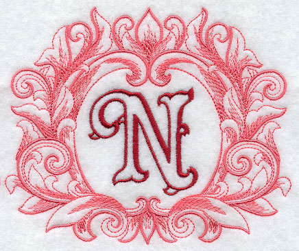 N Alphabet Design The design has sheer and open