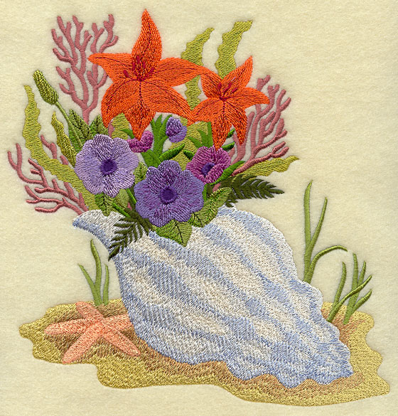 Free Shell Embroidery Designs