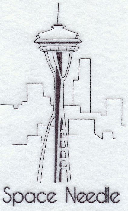 coloring pages space needle - photo#15