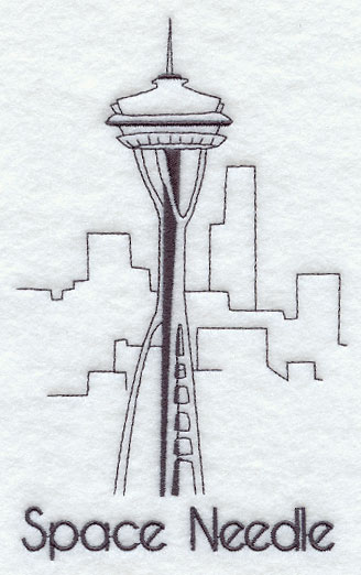 coloring pages space needle - photo#2