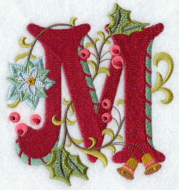 M Alphabet Design Machine Embroidery Designs at Embroidery Library! -
