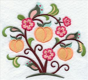 Machine embroidery designs at embroidery library emblibrary for Peach tree designs
