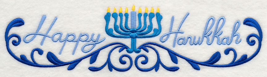 Hanukkah Border Machine embroidery designs at embroidery library ...