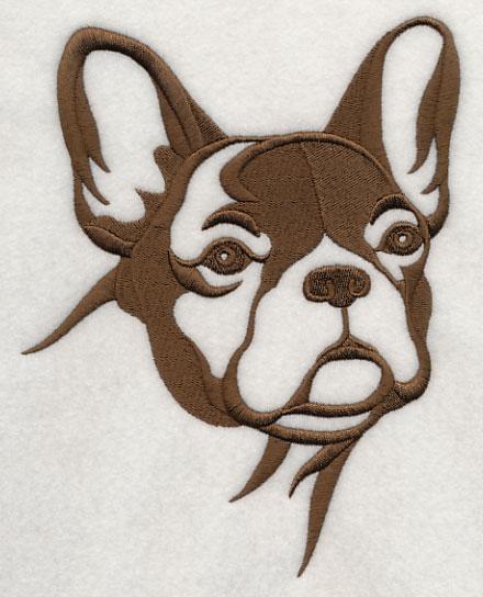 Bulldog Silhouette Applique French Bulldog Silhouette