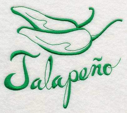 Jalapeno Embroidery Design