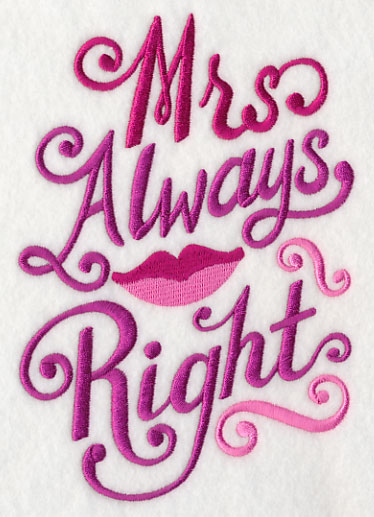Mrs Always Right Collection Review: Machine Embroidery Designs At Embroidery Library