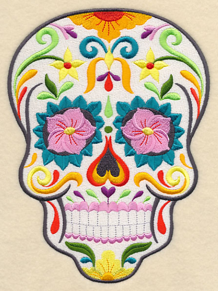 Free skull embroidery design video search engine at