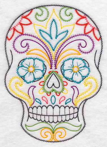 Sugar Skull Embroidery Pattern