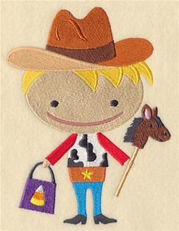 Cowboy Boo Embroidery Designs