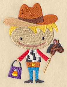 Cowboy Boo Embroidery Designs