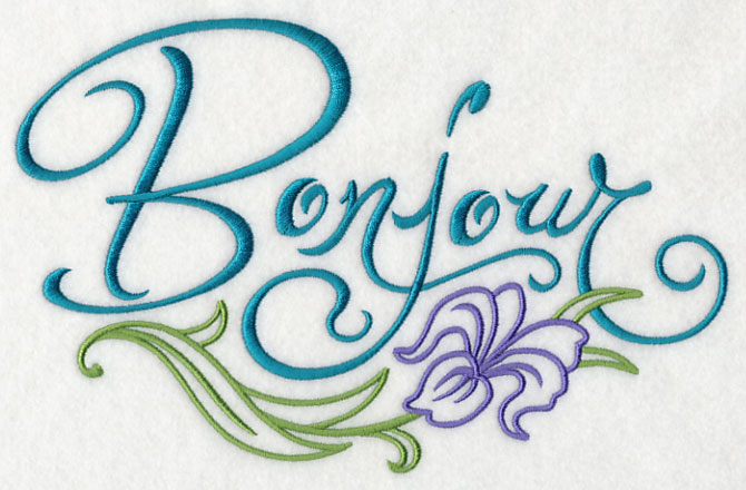 Good Morning Baltimore French : Machine embroidery designs at library