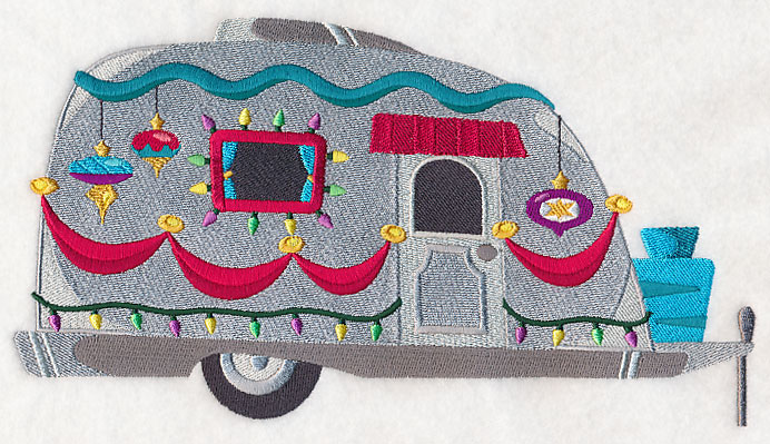Machine embroidery designs at embroidery library for Airstream christmas decoration