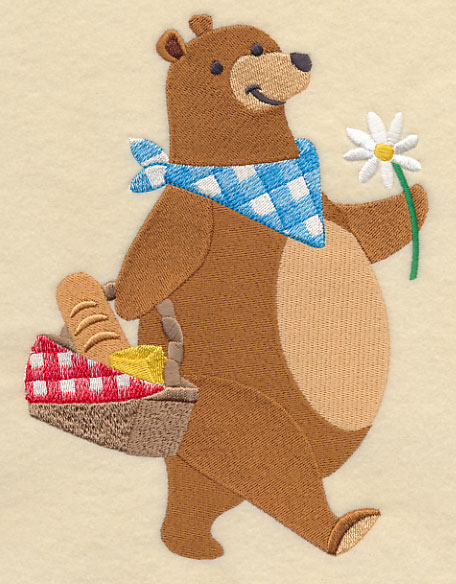 Picnic Basket Kleptomania Bear : Machine embroidery designs at library