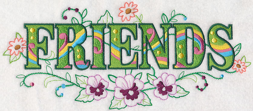 Machine Embroidery Designs at Embroidery Library! - Friends with ...