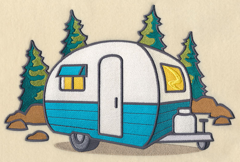 Machine embroidery designs at embroidery library for Camping a couture 49