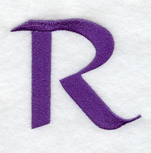 Machine Embroide...R Design Letter