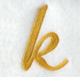 K Letter In Style Case Letter k  3 Inch