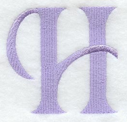 H Letter In Style Hana Letter H  3 Inch