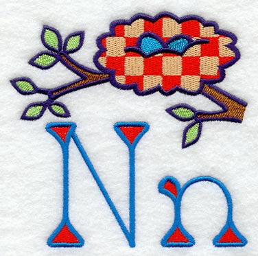 N Alphabet Design My First Alphabet Letter N