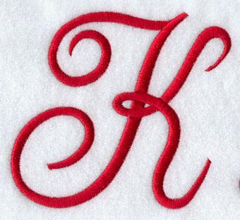 K Letter In Style Monogram Script Letter K - 4